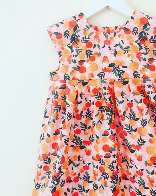 'Orange Blossom' dress 🍊 FABRIC IN STOCK (appx 7 day turnaround)