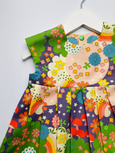 'Cosmic Flowers' Dress - 2/3 years. READY TO POST