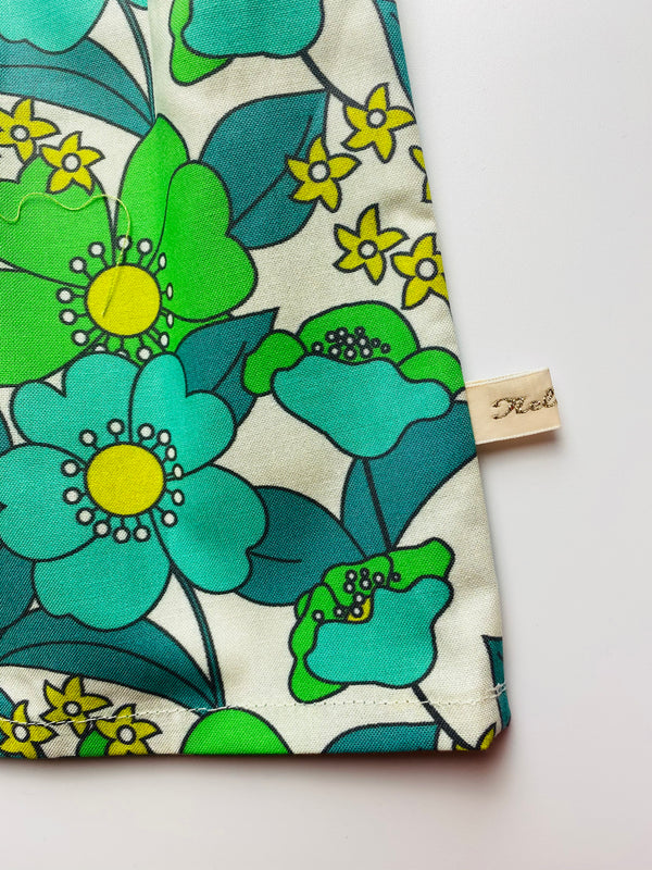 'Retro Floral' dress (Green)- Turnaround 2/3 weeks