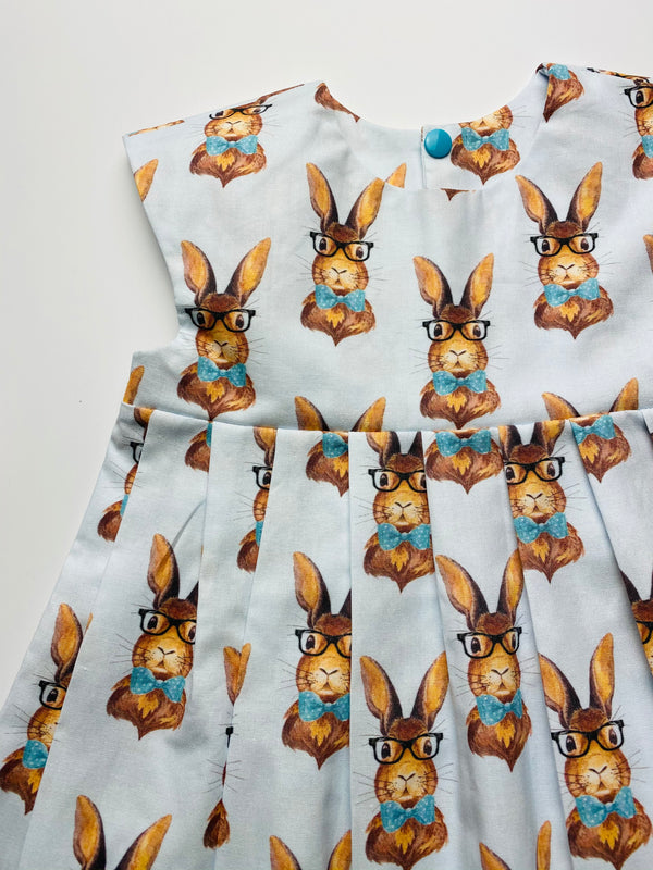 'Bunny with Glasses' Dress - 2/3 years. READY TO POST
