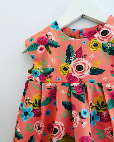 'Pink Painted Flowers' dress 💐2/3 Weeks Turnaround