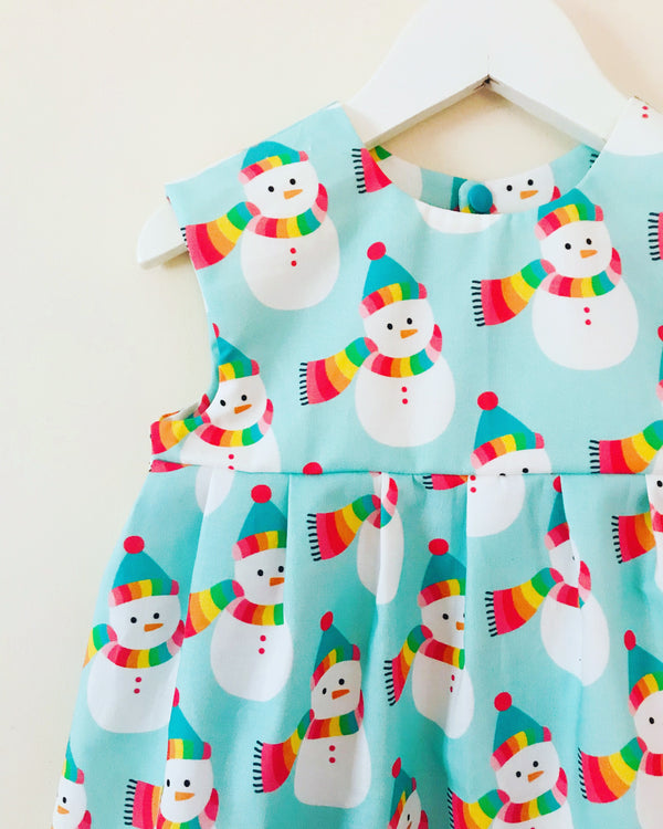 'Mr Rainbow Snowman' dress