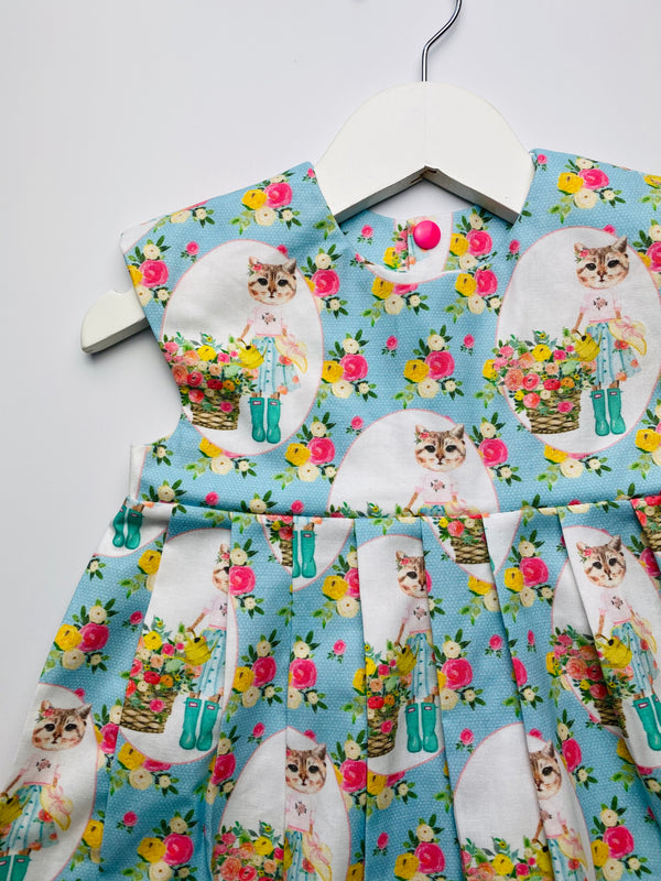 'Little Miss Kitty' dress 🐈🌸 - 2/3 Years - READY TO POST