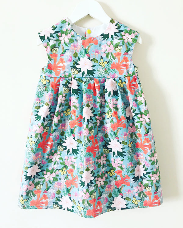 'Busy Garden' dress - Age 3/4 years