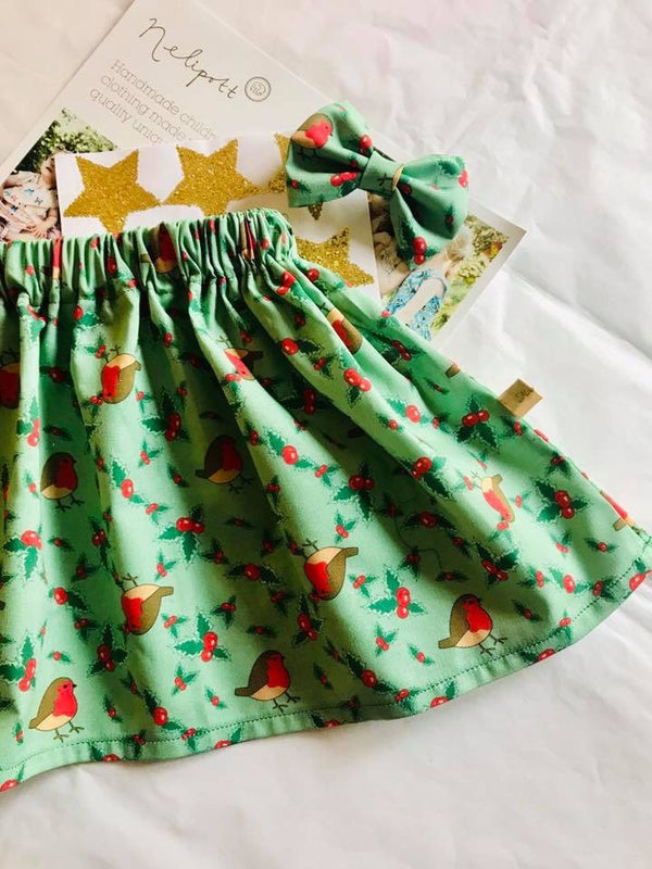 2/3 year old robin skirt (bow not inc but can be purchased)