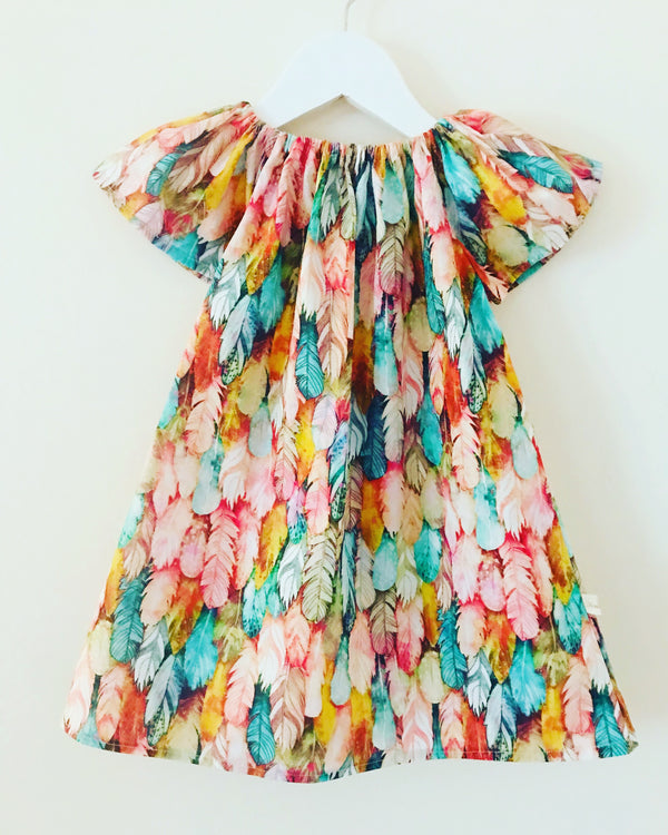 'Feather' Flutter dress