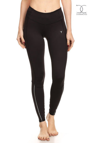 Leggings - Go-Dry Womens Double Stitched Reflective Leggings