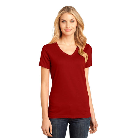 V Neck - Blank Ladies District Made DM1170L Perfect Weight V-Neck Tee