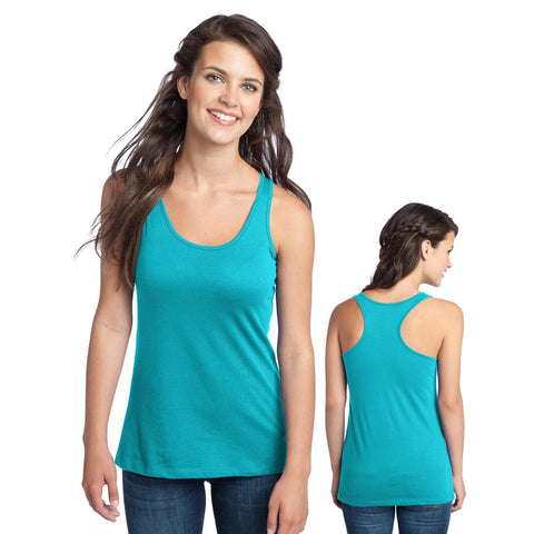 Womans Tank - Blank Juniors District DT237 Racerback Tank