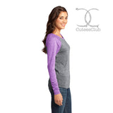 Long Sleeve - Blank Juniors DT262 Microburn Long Sleeve Raglan Tee