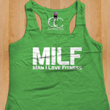 Womans Tank - MILF. Man I Love Fitness