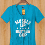 Womans Tank - Muscle Up Butter Cup