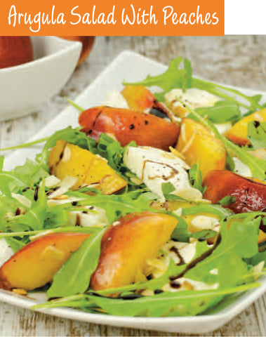 Arugula Salad With Peaches Recipe | Free PDF Download