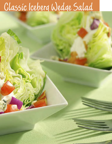 Classic Iceberg Wedge Salad Recipe | Free PDF Download