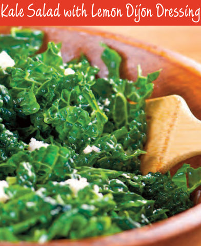 Kale Salad with Lemon Dijon Recipe | Free PDF Download