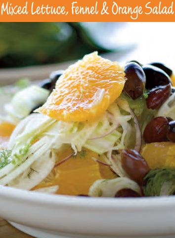 Mixed Lettuce Fennel Orange Salad Recipe | Free PDF Download