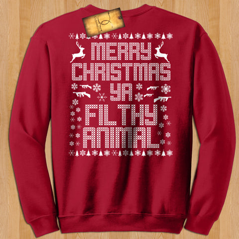 sweatshirt - Merry Christmas Ya Filthy Animal | Unisex Sweatshirt