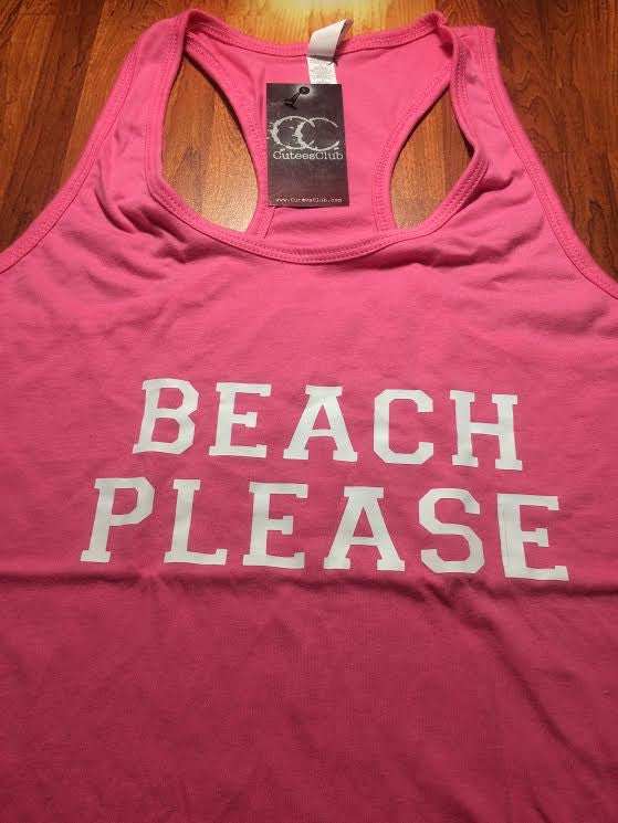 Womans Tank - Deal Of The Day | Beach Please | Juniors Pink M