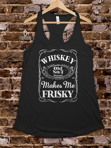 Womans Tank - Whiskey Makes Me Frisky