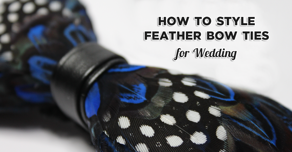 Feather Bow Ties for Wedding