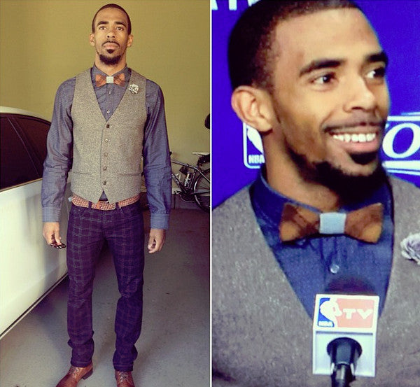 Mike Conley Wooden Bow Tie