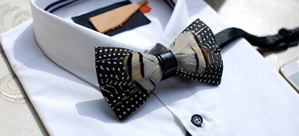 Wild Feather Bow Tie