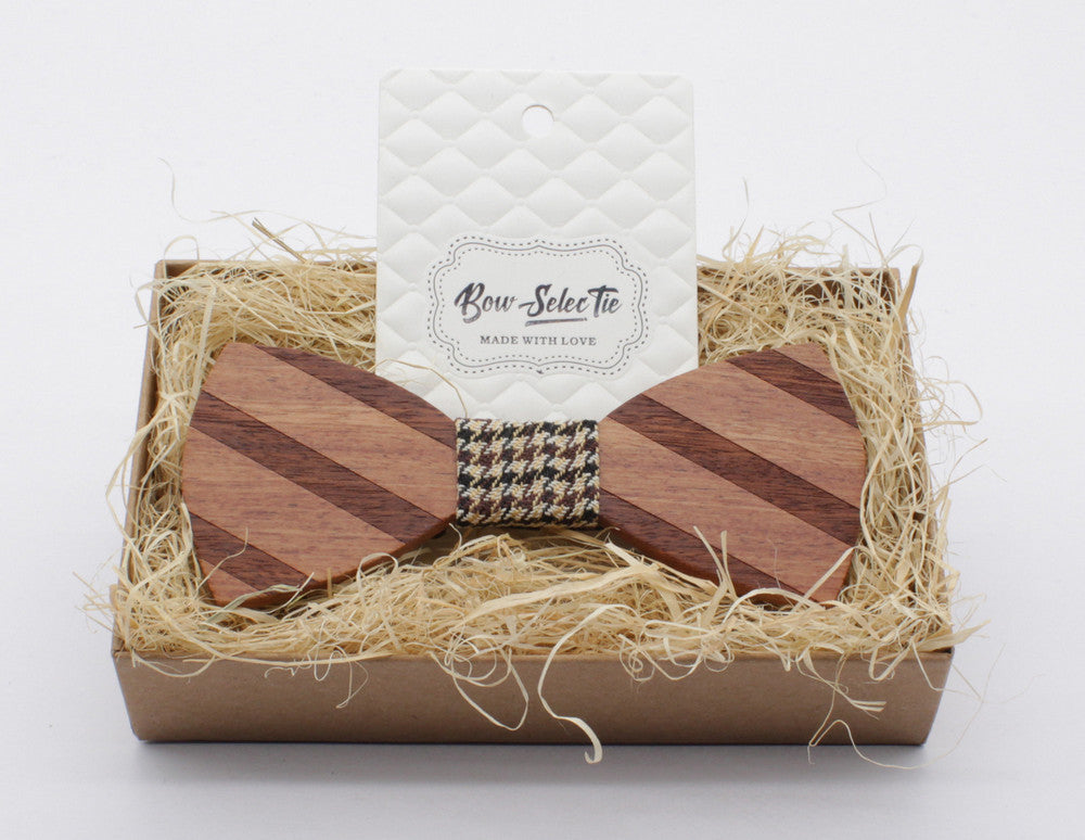 Wooden Bow Tie Gift Box