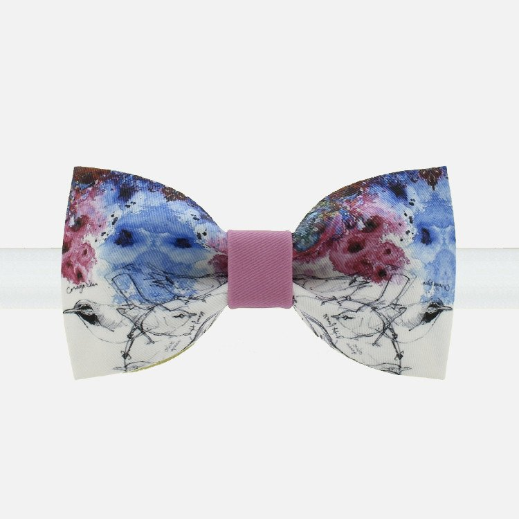 Birds and Flowers Bow Tie - Bowties - 1