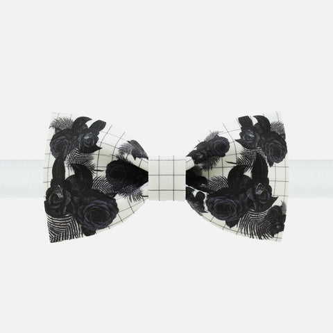 Black Rose Bow Tie - Bowties - 1
