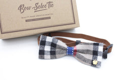 Black and White Cat & Dog Bow Tie Collar