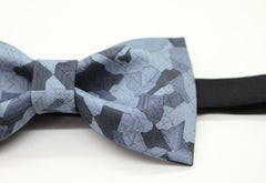 Blue Geometric Bow Tie - Bowties - 2
