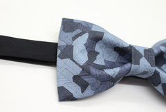 Blue Geometric Bow Tie - Bowties - 4