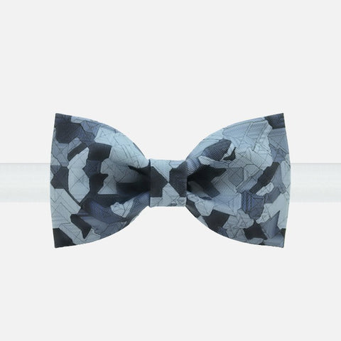 Blue Geometric Bow Tie - Bowties - 1
