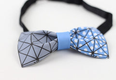 Blue Geometry Bow Tie - Bowties - 3