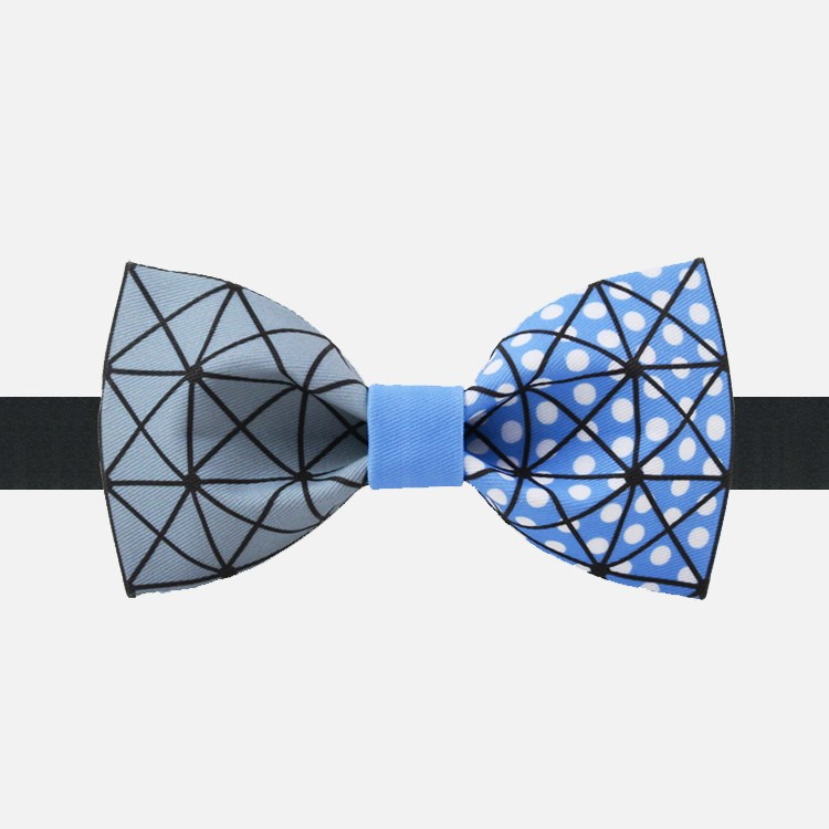 Blue Geometry Bow Tie - Bowties - 1