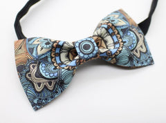 Blue Paisley Bow Tie - Bowties - 2