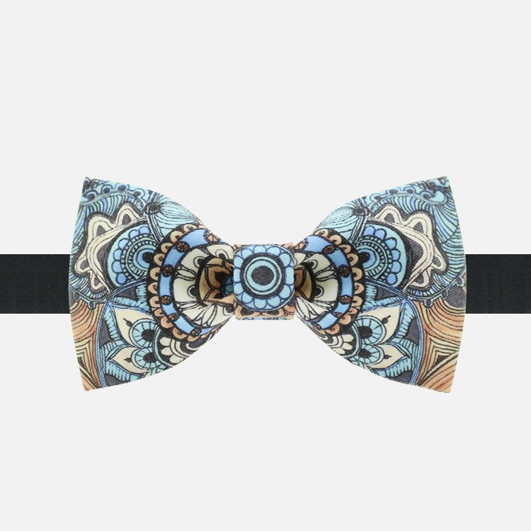 Blue Paisley Bow Tie - Bowties - 1