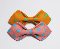 Orange Polka Boys Bow Tie - Bowties - 2