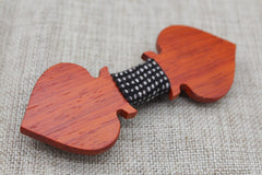 Aces Wooden Bow Tie - Bowties - 3