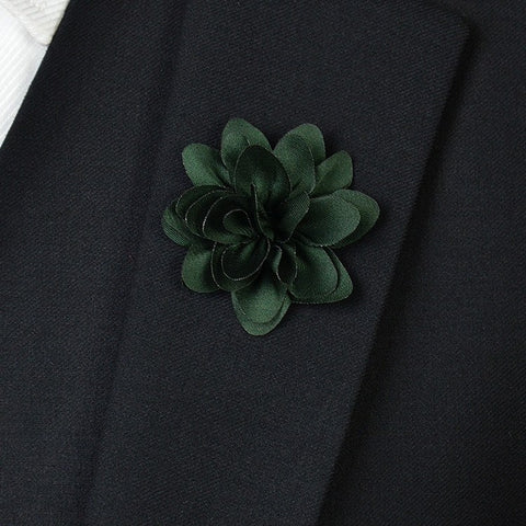 Army Green Flower Lapel Pin - Bowties - 1
