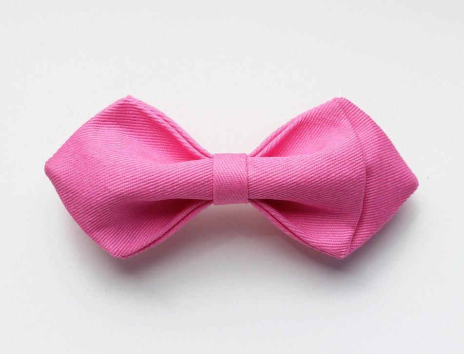 Baby Pink Kids Bow Tie - Bowties - 1