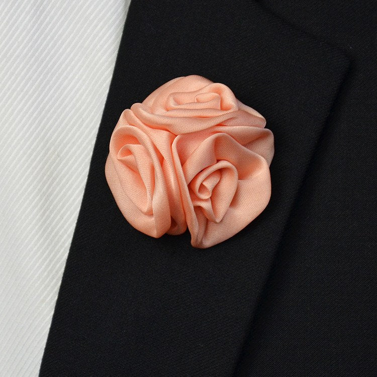 Satin Lapel Pin Pink - Bowties - 1