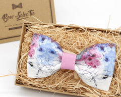 Birds and Flowers Bow Tie