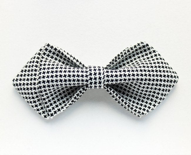 Black & White Checked Kids Bow Tie - Bowties - 1