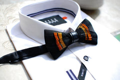 Black Feather Bowtie - Bowties - 2