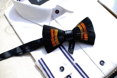 Black Feather Bowtie - Bowties - 3
