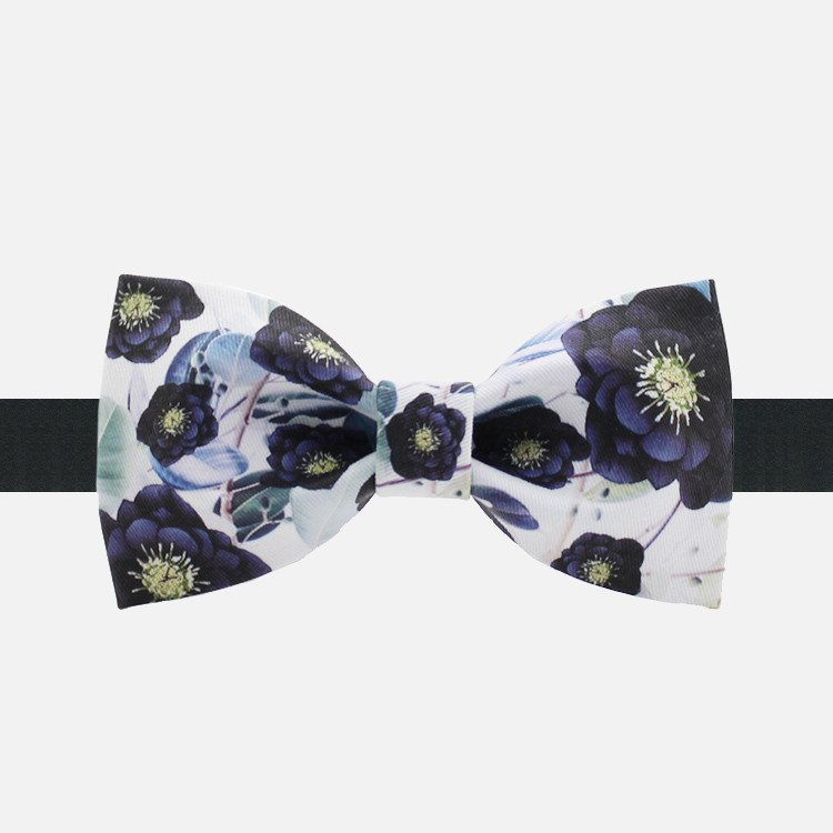 Purple Flower Bowtie - Bowties - 1