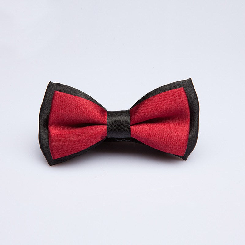 Black Outline Kids Bow Tie - Bowties - 1