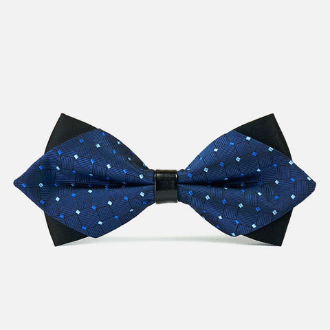 Blue Diamond Polka Bowtie - Bowties