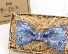Blue Dragon Bow Tie